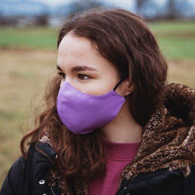 Higienska maska obojestranska – pralna – ženska PURPLY Ž